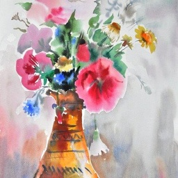 Watercolour bouquet.