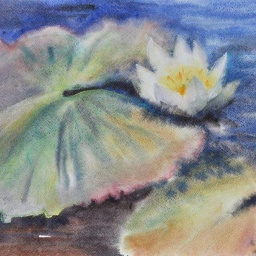 Lily. Watercolour, pastel