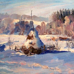 Winter. Oil.