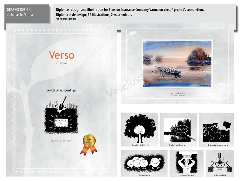 Diploma design and illustration