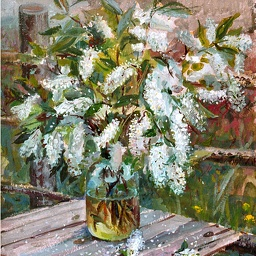 Bird cherry. Oil. 1998