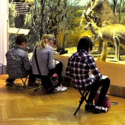 My art classes in the Natural History Museum, Helsinki. Art Studio of HappyLand Ry (2014-2019)