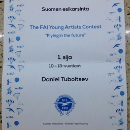 Diploma: The 1st place for my student of the Art studio at HappyLand Ry (2014-2019)