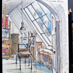 Gallen-Kallela interior sketch